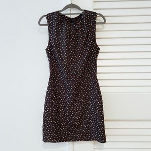 ZARA floral pattered dress with open back